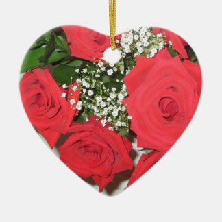 Once Upon a Time... Roses Ceramic Ornament