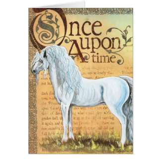 Once upon A time Unicorn Card