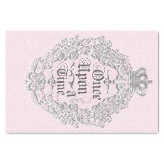 Once Upon A Time Vintage Pink Princess Elegant Tissue Paper