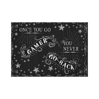 Once You Go Gamer You Never Go Back Chalkboard Canvas Print