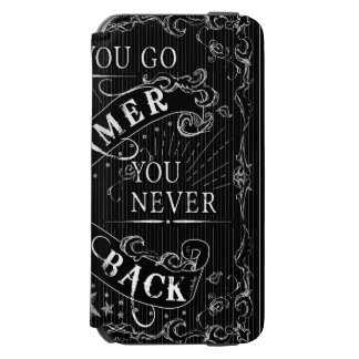 Once You Go Gamer You Never Go Back white on black Incipio Watson™ iPhone 6 Wallet Case