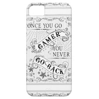 Once You Go Gamer You Never Go Back white on black iPhone 5 Cover