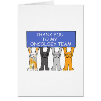 Oncology Team Thanks Card