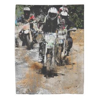 Oncoming  -  Motocross Dirt-Bike Racer Duvet Cover