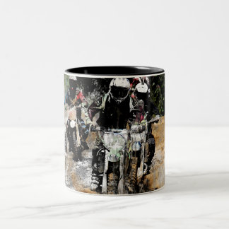 Oncoming! - Motocross Racer Two-Tone Coffee Mug