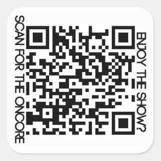 Oncore Facebook QR Square Sticker