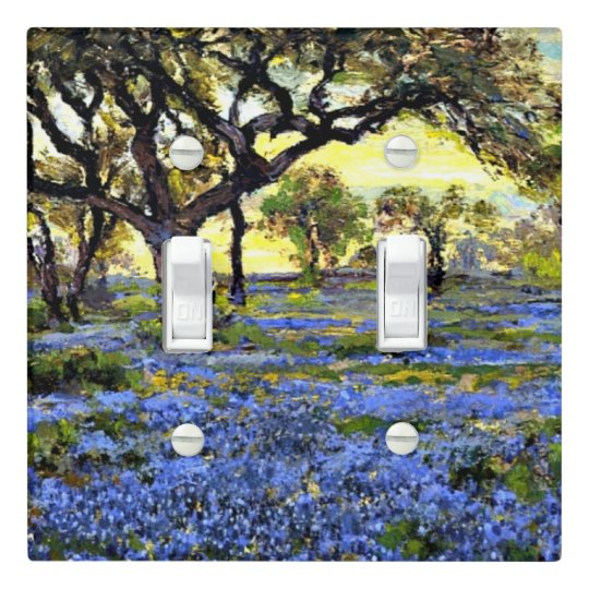 Onderdonk - Old Live Oak Tree and Bluebells Light Switch Cover