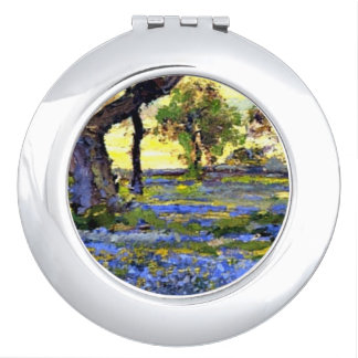 Onderdonk - Old Live Oak Tree and Bluebonnets Makeup Mirror
