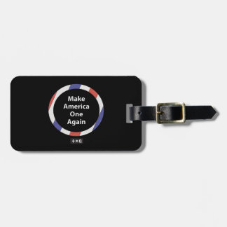 One America Red White And Blue Patriotic Luggage Tag