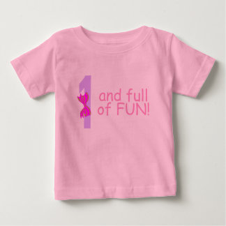 One And full Of Fun (Bow) Baby T-Shirt