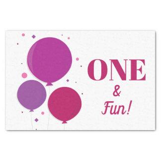 One and Fun purple birthday | Tissue Paper