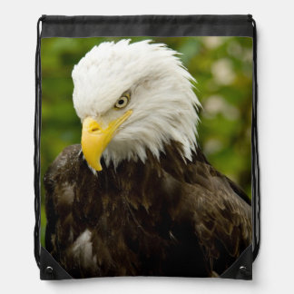 One Angry Bald Eagle Cinch Bags