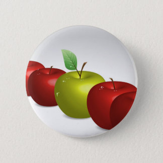 One apple for everyone 2 inch round button