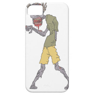 One Arm Creepy Zombie With Rotting Flesh Outlined Case For The iPhone 5