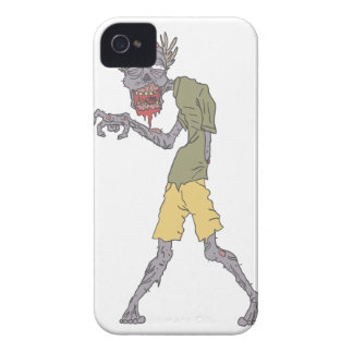 One Arm Creepy Zombie With Rotting Flesh Outlined iPhone 4 Case