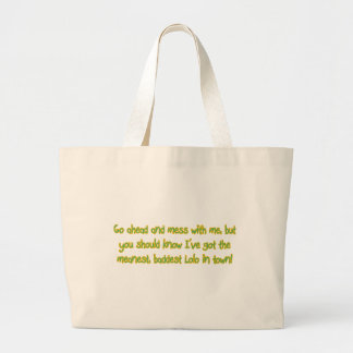 One Bad Lolo Large Tote Bag