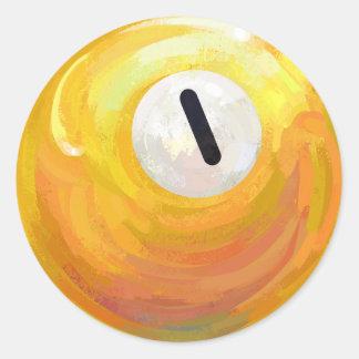 One Ball Classic Round Sticker
