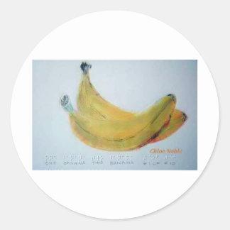 One Banana, Two Banana Round Sticker