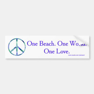 One Beach, One World, One Love Bumper Sticker