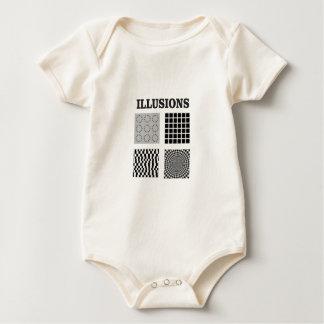 One big illusion baby bodysuit