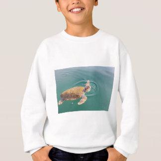One big swimming sea turtle Caretta Sweatshirt