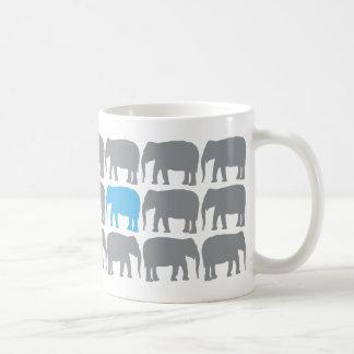 One Blue Elephant in the Herd  Mug