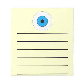One Blue Eye Notepad