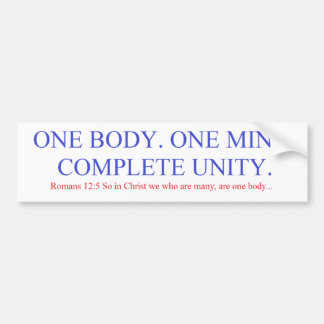 One Body. One Mind. Bumper Sticker