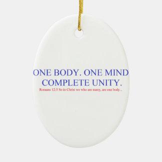 One Body. One Mind. Ceramic Ornament