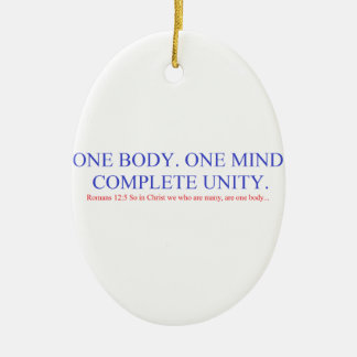 One Body. One Mind. Ceramic Oval Ornament