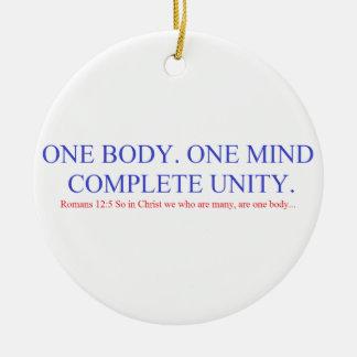 One Body. One Mind. Round Ceramic Ornament