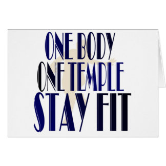 One Body One Temple Card