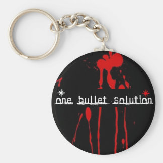 One Bullet Solution Keychain
