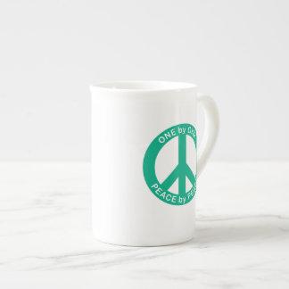 One by One Peace by Peace Bone China Mug