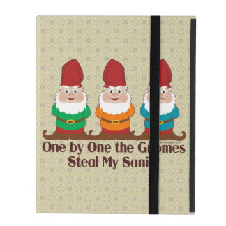 One by one the Gnomes steal my sanity Cases For iPad
