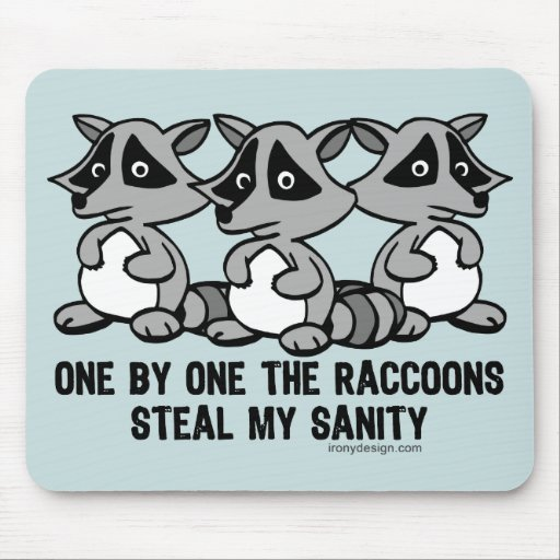 One By One The Raccoons Mousepad
