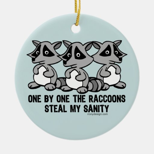 One By One The Raccoons Christmas Ornament