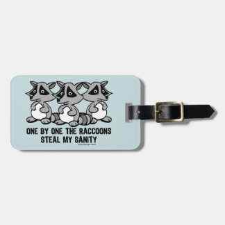 One By One The Raccoons Tags For Luggage