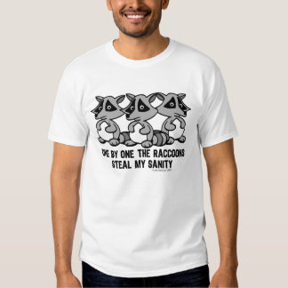 One By One The Raccoons Tee Shirts