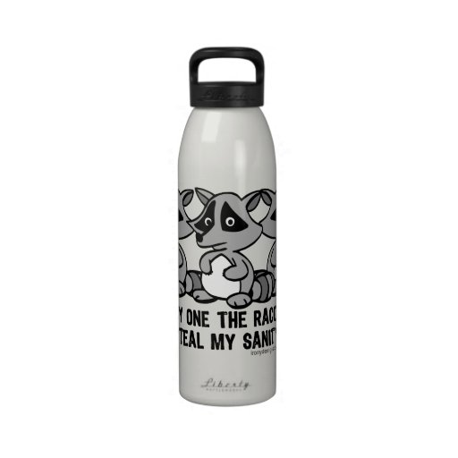 One By One The Raccoons Reusable Water Bottles