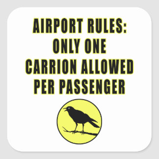 One Carrion Square Sticker