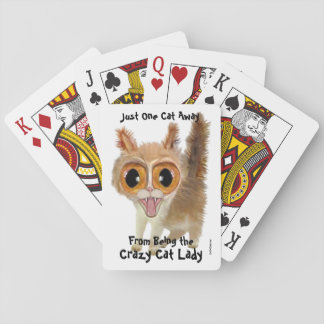 One Cat Away from Being the Crazy Cat Lady Playing Cards