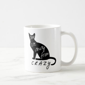 One cat away from CRAZY Coffee Mug