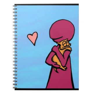 One Cat Loves Hugging Comic Notebooks