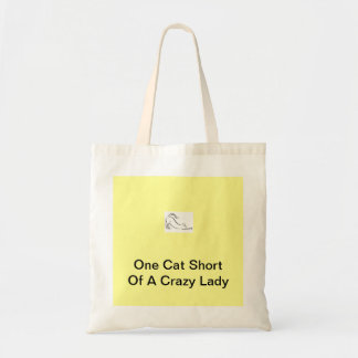 One Cat Short Of A Crazy Lady Tote Bag