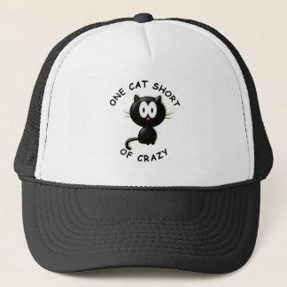 One Cat Short of Crazy Trucker Hat