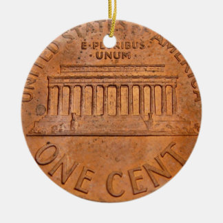 one cent christmas ornament