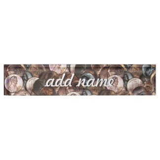 One Cent Penny Spread Background Desk Name Plates
