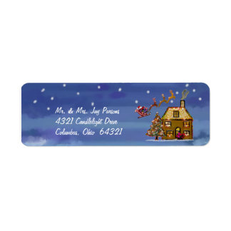 One Christmas Night Return Address Labels