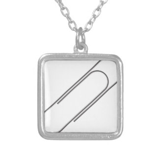 one clip silver plated necklace